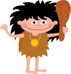mały jaskiniowiec, historia, prehistoria