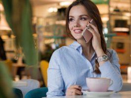 smartfon, kawiarnia