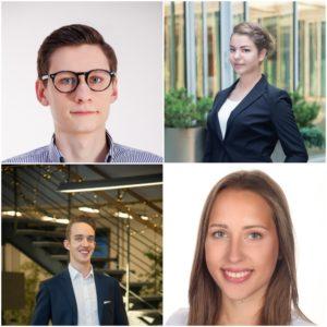 Zarządzający studenckim funduszem Freshman Capital - Wiktor Skowroński, Karolina Gronek, Jakub Erdman i Agata Wiatrowska
