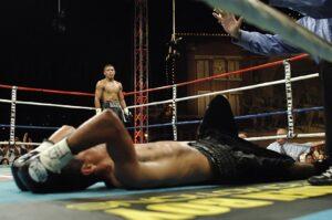 Znokautowany bokser