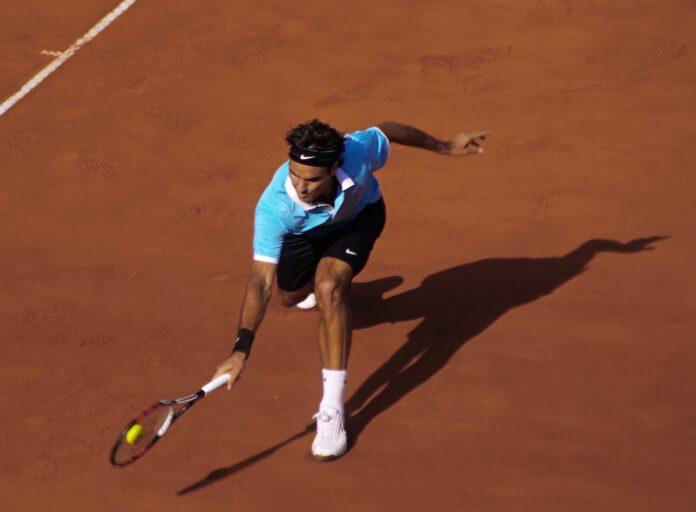 Roger Federer na korcie ziemnym w Rzymie