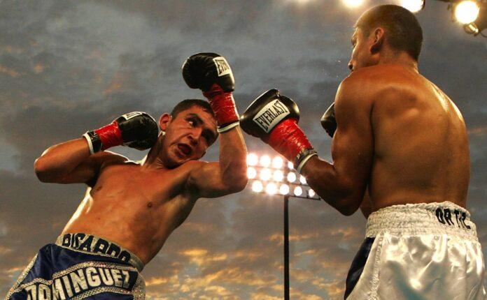 Dwóch bokserów w pojedynku