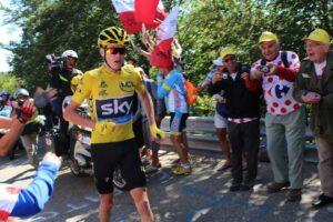 Chris Froome w koszulce lidera Tour de France