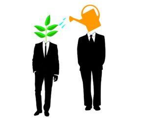 Graficzne przedstawienie mentora i szkolonego