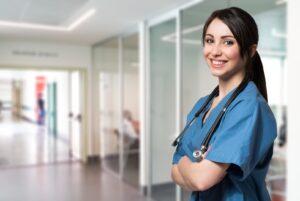 Pielęgniarka w szpitalu