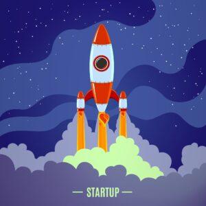 Grafika przedstawiająca startupy z sektora kosmicznego