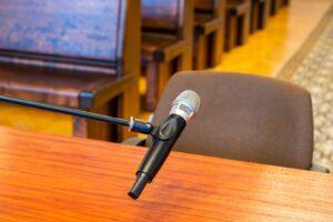 Miejsce w sądzie, w którym zeznaje świadek
