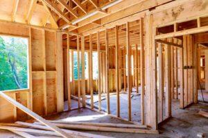 Drewniany szkielet domu szkieletowego