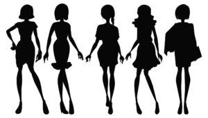 Atrakcyjne kobiece sylwetki