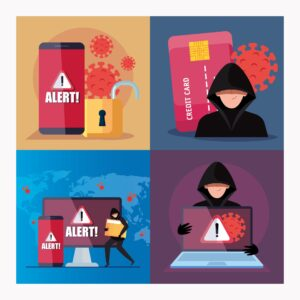 Haker wyłudzający dane karty kredytowej w związku z pandemią