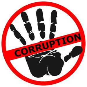 """Znak """"nie dla korupcji"""""""