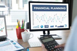 ekran przedstawiający postępy w realizacji wyznaczonych celów finansowych