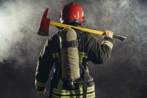 Strażak pełniący czynną służbę