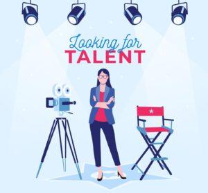 Plakat reklamujący casting