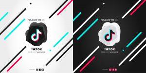 Link zachęcający do obserwowania profilu na TikToku i logo aplikacji