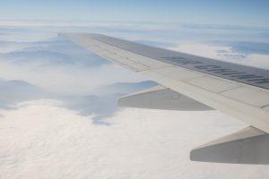 Skrzydło samolotu Air China
